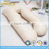 Machine Washable U Shaped Maternity Belly Contour Pregnancy Wedge Pillow With Cotton Zipper Closure
