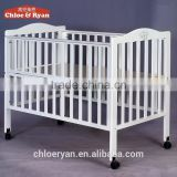 Multi-functional inflatable baby bed with wheels wooden baby crib