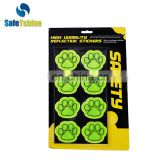 reflective fluorescent light stickers