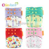 Elinfant Reusable bamboo charcoal cloth diaper new print baby comfortable cloth diaper