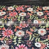 Black Floral Indian Handmade Kantha Quilt Bedspread Kantha Supplier Queen Size Quilt Blanket Throw Decorative Gudari Beach cover