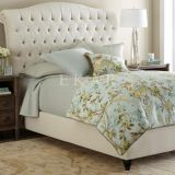 Modern Bedroom Furniture Wood Fabric Double Bed Designs