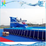 Above Ground Outdoor Giant PVC Pool Type Metal Frame Swimming Pool For Commercial
