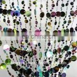 Plastic Black Irdescent Champagne Bubble Beaded Curtain
