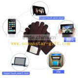 Fancy Wireless bluetooth touch screen gloves /leather Touch screen gloves and Bluetooth glove in acrylic