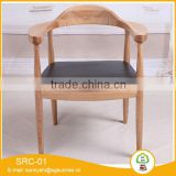 American White Beech Solid Wood Restaurant Leather Cushion Chairs Professional Dining Chair Supplier