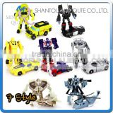 Mini Qute 7 styles America Movie plastic changing robot car action figures kids model collection toys NO.MQ 040