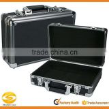 Small Black Aluminum Locking Storage box, carrying case,Aluminum pencil case