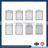 Aluminum metal steel frame fence gates main gate and fence wall design