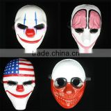2015 New In stock Wolf Dallas Chains Hoxton Game Payday2 Movie Game theme PVC halloween masquerade mask