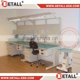 adjustable lab work table with durable ESD rubber mat