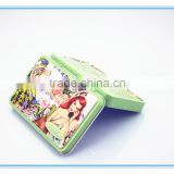 beautiful battery tin box,small rectangular metal tin box for battery,colorful rectangular tobacco tin box