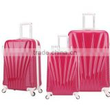 2016 newest good quality urban pc+abs women girls durable trolley luggage 3 pieces set