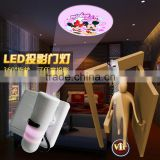 2015 ABS led battery indoor projector light led flashlight to halloween led logo design light