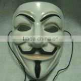 PVC V For Vendetta Guy Fawkes Mask for Halloween Costume Fancy Dress Cosplay unisex