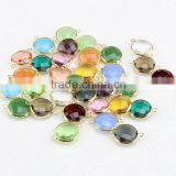 JFG0505 Wholesale crystal gemstone bezel round connectors                                                                         Quality Choice