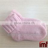 Baby Booties 100% Cashmere Light Pink Jersey Stitch