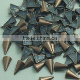 Silver, black nickel ,antic brass, gold hot fix alloy studs, 2015 new alloy studs hotfix contact us...