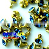 Hot sale Open end rhinestone rivet, rhinestone strass rivet, leather rhinestone rivets for decoration