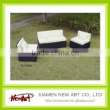 S/3 relax outdoor rattan garden furniture with cushion
