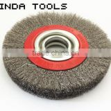 wheel brush with brass wire,stainless steel wire wheel brush, alloy wheel brush