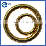 Bag Parts & Accessories customized metal ring for bag solid brass gold ring for made in China