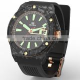 New design army fashion silicone rubber strap military sport watch