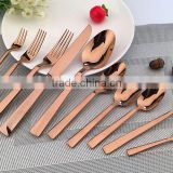 copper plated tableware cultery set 8005