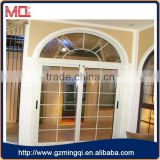 Good quality arch aluminium casement window with grids