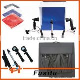 Photo studio light kit,Photo Studio Cube Tent Lighting Kit Softbox Soft box Tripod 4 Backdrops