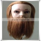 Alibaba express natural human hair male mannequin head with beard, training doll head, hairdressing training heads