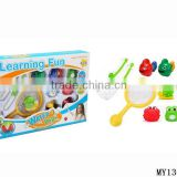 Promotional baby bath toys including spoon-net and fishing toy for kids