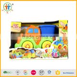 Good price free wheel fucntion touch fun cartoon truck toys plastic with music and light