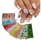 Japanse 3D Natural Shell Nail Art Sticker & Decal Tips 0.5 mm -0.8mm thick 4*7mm Stiff 3D Beauty Stickers For Nail Decoration