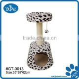 Lamp shaped indoor cat tree house