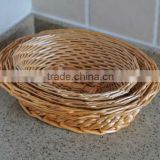 Eco-friendly oval weave wicker bread baskets wicker hamper basket