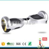 2015 new design 2 wheels smart electric self balance standing scooter with roof skateboard silver colour
