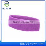 Shijiazhuang Aofeite Medicial Device Cotton Stretch Headbands Yoga Softball Sports Soft Hair Band Sweatband Head