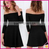 Sexy Women Casual Summer Sleeveless Lace Insert Boat Neck Transparent Latex Dress for Woman