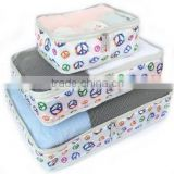 taobao 6 in 1 fashion ladies polyester storage packing cubes travel bag organizer for sundries and underwear