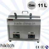Used commercial kitchen equipment 11L gas deep fryer/gas chips fryer mahine.