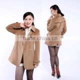 Women's Winter Wool Coat In Double Breast Long Sleeve Trench Coat Blazer OEM Supplier Factory Manufacturer
