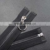 Manufacturers selling 5# copper metal zipper,open-end auto lock black zipper, smooth entrance guard zipper riot clothing