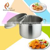 100L quality guarantee 100% export kitchen stainless steel soup pot with double-ply bottom best sale