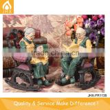 Wedding Souvenir Hand Painting Resin Old Couple Figurine