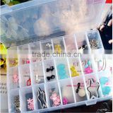 Hot Sale Multifunction Detachable Plastic Storage Box Jewelry Necklace Clear Storage Box Adjustable Tiny Stuff Container