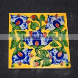 Buy Handmade Blue Pottery Tiles in Jaipur - Flooring & Ceiling Home Hotel Decor Tiles