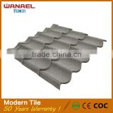 Prefabricated houses construction material sheet metal heat insulation interlocking roof shingles