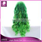 Free shipping cheap synthetic cosplay wigs sexy color lace front wig in stock