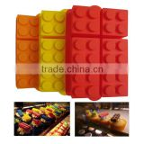 Large Candy Color Buliding Block Candy Jello Silicone Ice Cube Tray Chocolates Silicone Baking Molds for Lego Lovers